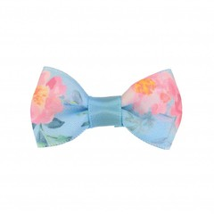 Your Little Miss Baby hair clip blue flowers