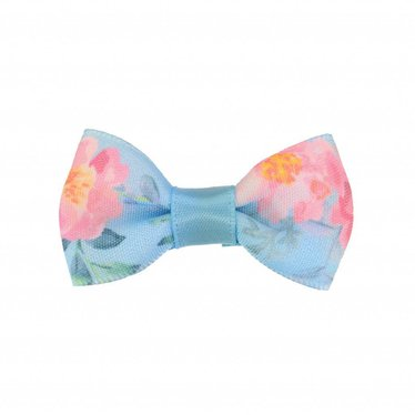 Your Little Miss Baby Haarspange blau mit Blumen