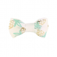 Your Little Miss Baby hair clip pineapple white