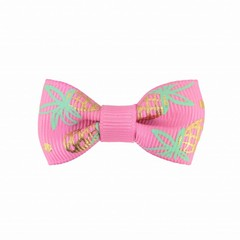 Your Little Miss Baby hair clip pink pineapple