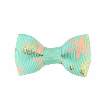 Your Little Miss Baby hair clip mint pineapple