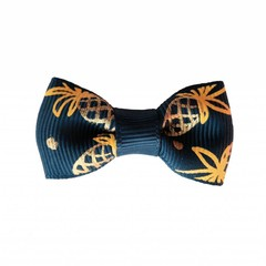 Your Little Miss Baby hair clip navy pineapple