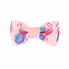 Your Little Miss Baby hair clip pink flamingo