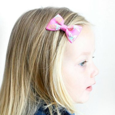 Your Little Miss Haarspeld met strik pink pineapple