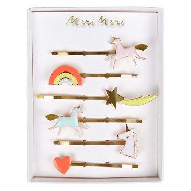 Meri Meri Hair pins unicorn