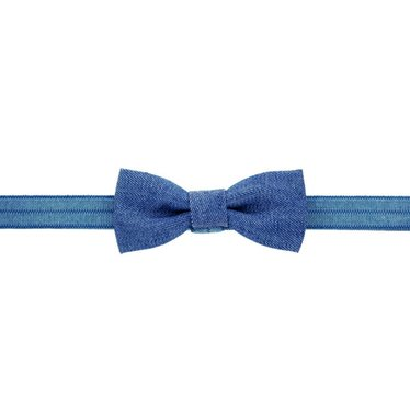Your Little Miss Baby headband with denim bow