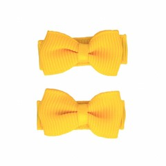 Your Little Miss Yellow baby hair clips with bow