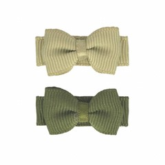 Your Little Miss Set of baby hair clips green