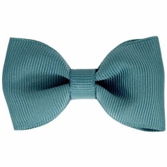Your Little Miss Hair clip with bow antique blue