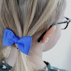 Your Little Miss Haarspeld met strik really blue
