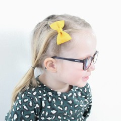 Your Little Miss Hair clip with bow yellow