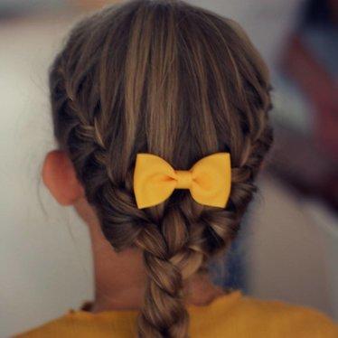 Your Little Miss Haarspeld met strik ochre