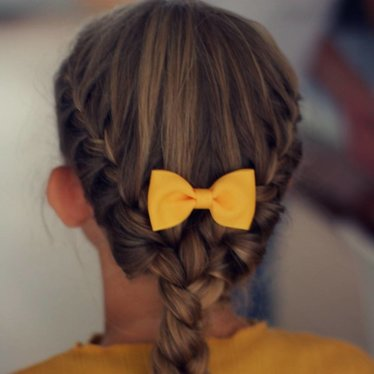Your Little Miss Hair clip with bow ocher