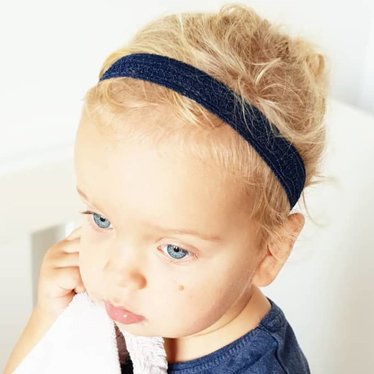 Your Little Miss Baby hair band blue lace