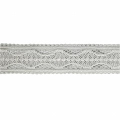 Your Little Miss Baby headband gray lace