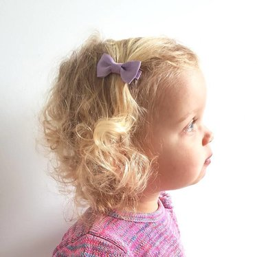Your Little Miss Baby hair clip light purple