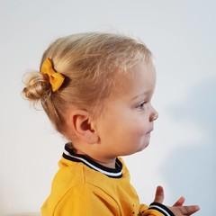 Your Little Miss Baby hair clip ocher
