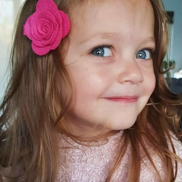 Your Little Miss Deep pink Hair clip with felt flower