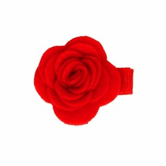 Your Little Miss Baby Hair clip with red felt flower