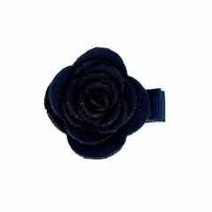 Your Little Miss Baby Hair clip with dark blue felt flower