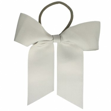 Your Little Miss Hair bow with elastic gray