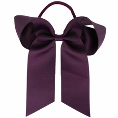 Your Little Miss Hair bow with elastic dark purple