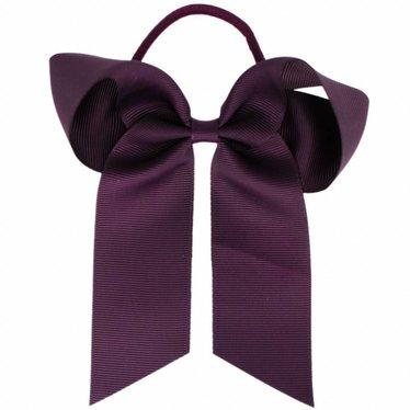 Your Little Miss Haarschleife mit Gummi dunkelviolett