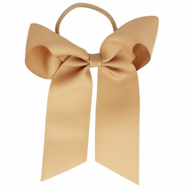 Your Little Miss Hair bow with elastic light coffee