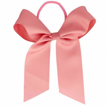 Your Little Miss Hair bow with elastic old pink
