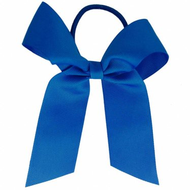 Your Little Miss Hair bow with elastic really blue