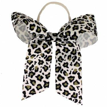 Your Little Miss Haarschleife mit Gummi Schwarzem Leoparden