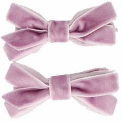 Your Little Miss Fermacapelli con fiocco in velluto viola chiaro