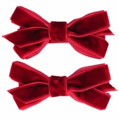 Your Little Miss Barrettes con fiocco rosso scarlatto