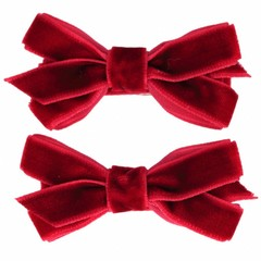 Your Little Miss Haarspeldjes met velvet strik scarlet
