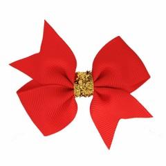 Your Little Miss Fiocchetto per capelli glitter rosso caldo