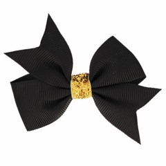 Your Little Miss Hair bow glitter black