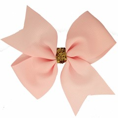 Your Little Miss Grote haarstrik glitter light pink