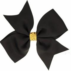 Your Little Miss Grande fiocco di capelli glitterato nero