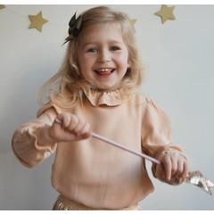 Your Little Miss Grande fiocco di capelli glitterato oliva scuro
