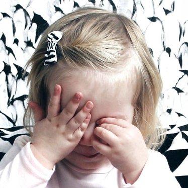 Your Little Miss Baby Haarspange Zebra