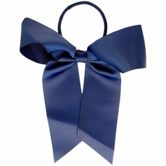 Your Little Miss Hair bow with elastic dark blue