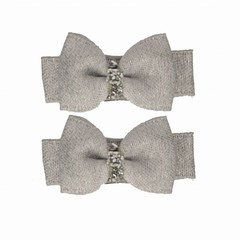 Your Little Miss Setje baby haarspeldjes grey sparkle