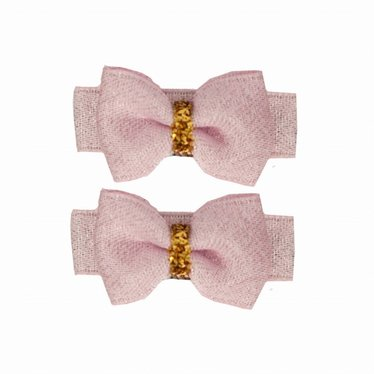 Your Little Miss Setje baby haarspeldjes pink sparkle