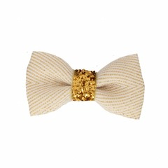 Your Little Miss Baby hair clip white & gold
