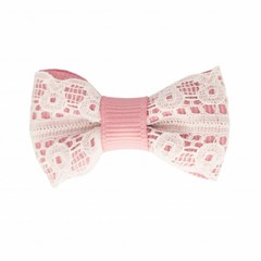 Your Little Miss Baby hair clip old pink lace