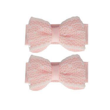 Your Little Miss Baby haarspeldjes light pink lace