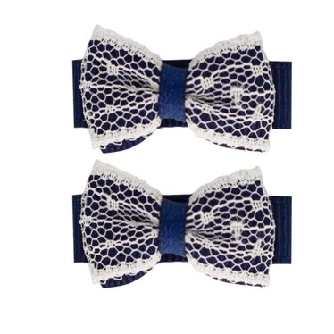 Your Little Miss Baby haarspeldjes navy lace