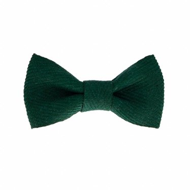Your Little Miss Baby hair clip green twill