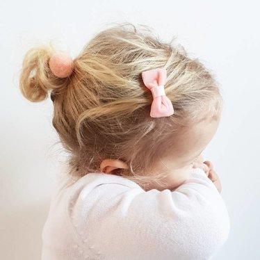 Your Little Miss Baby haarspeldje pink velvet