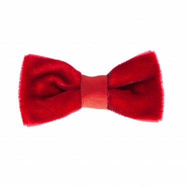 Your Little Miss Baby hair clip red velvet